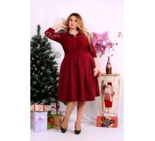 Красное платье с гипюром ККК1123-0659-3
