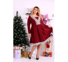 Бордовое нарядное платье ККК1126-0658-3
