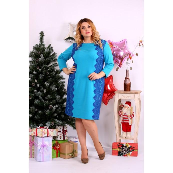 Голубое платье ККК1129-0657-3