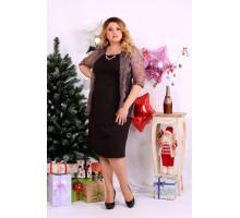 Благородное платье шоколадного оттенка ККК1138-0654-3