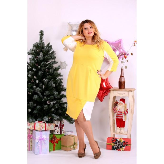 Желтое платье ККК116-0667-1