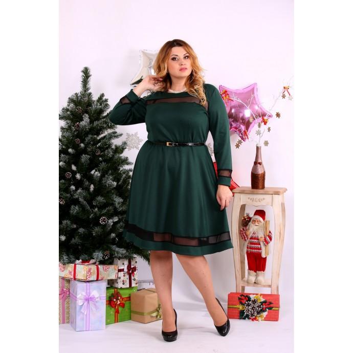Зеленое платье ККК1110-0664-3