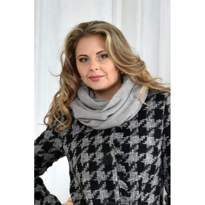 Серый шарф ККК71-001-2