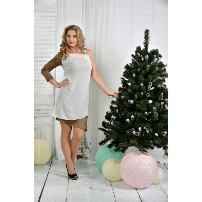 Платье горчица ККК760-0373-1