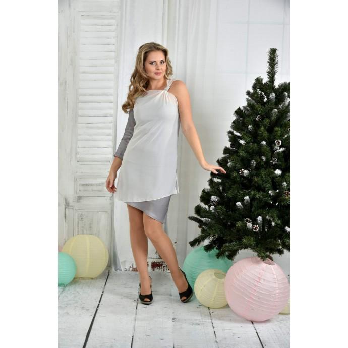 Серое платье ККК759-0373-2