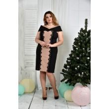 Бежевое платье ККК754-0375-1