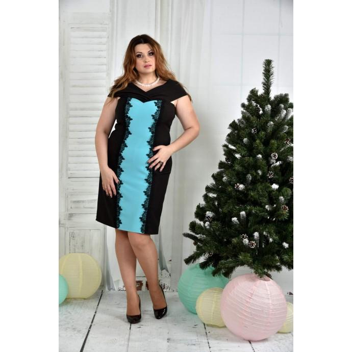 Синее платье ККК753-0375-2