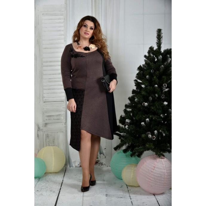 Коричневое платье ККК751-0376-1
