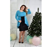 Голубое платье ККК747-0377-2