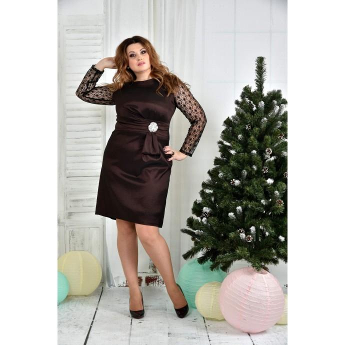 Коричневое платье 42-74 размер ККК731-0385-1
