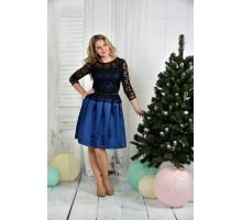 Синее платье 42-74 размер ККК726-0386-3