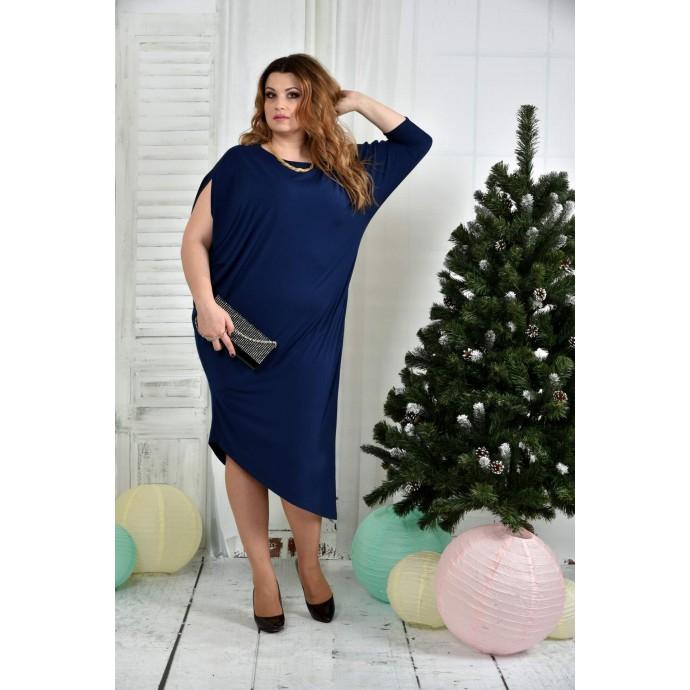 Синее платье 42-74 размер ККК724-0387-2