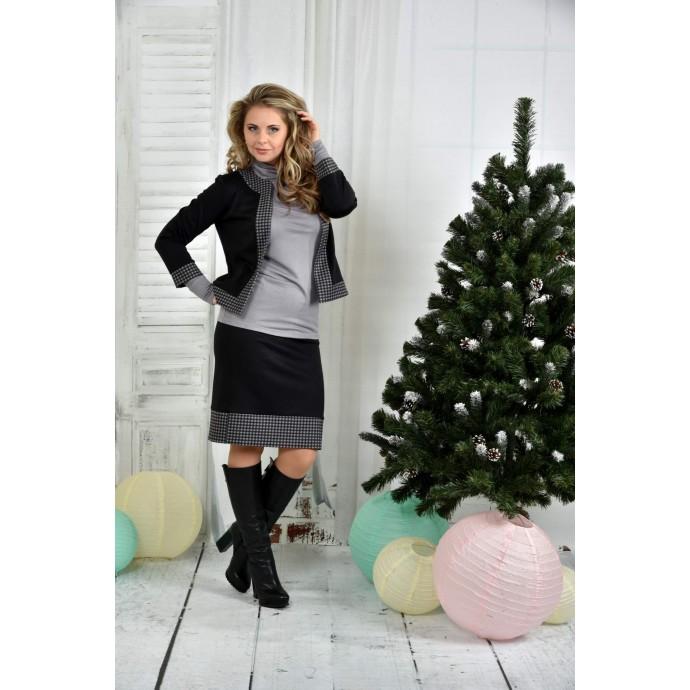 Черный костюм 42-74 размер ККК717-0389-2