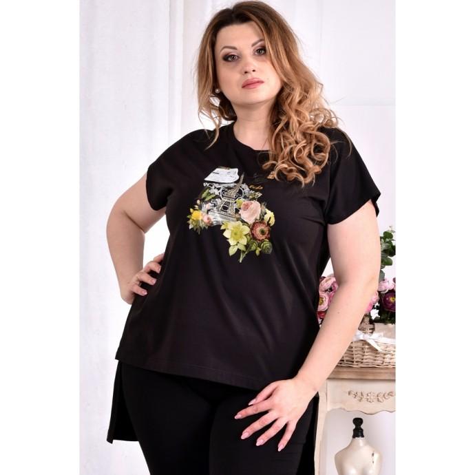 Стрейчевая футболка с принтом ККК2998-0561-1