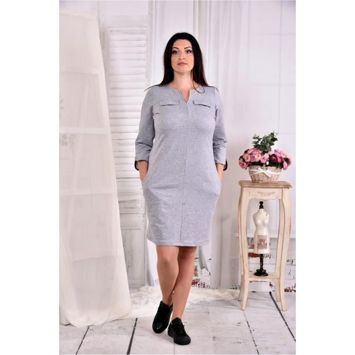 Светло-серое платье ККК276-0571-3