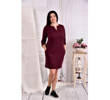 Бордовое платье на каждый день ККК277-0571-2