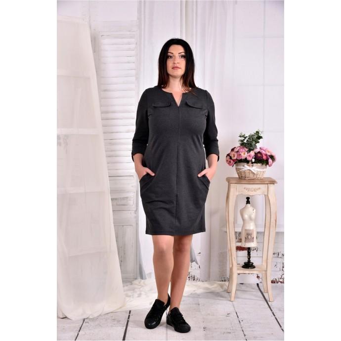 Повседневное платье из трикотажа ККК278-0571-1