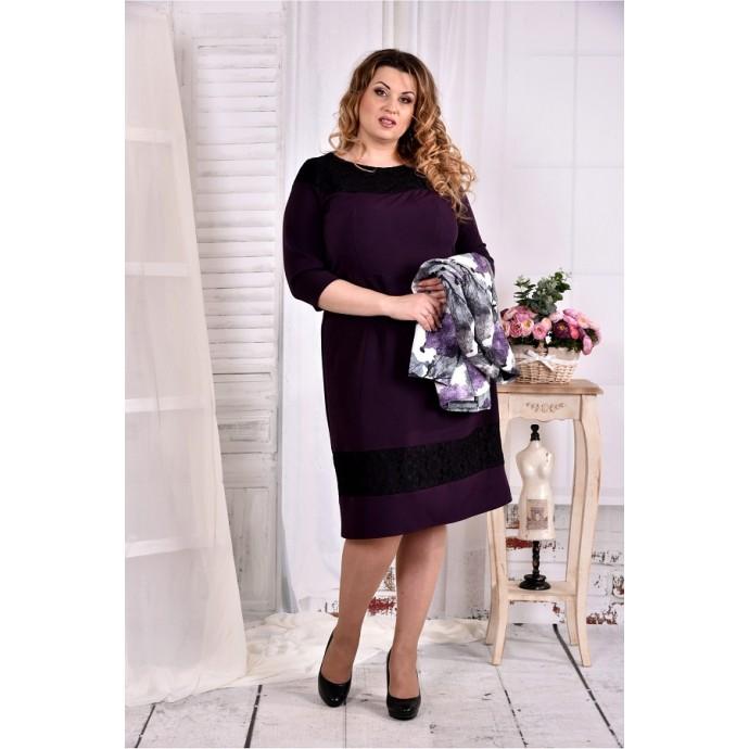 Фиолетовое нарядное платье ККК262-0577-2-2
