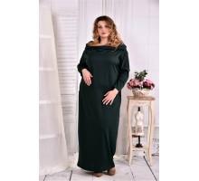 Зеленое платье в пол ККК281-0570-1