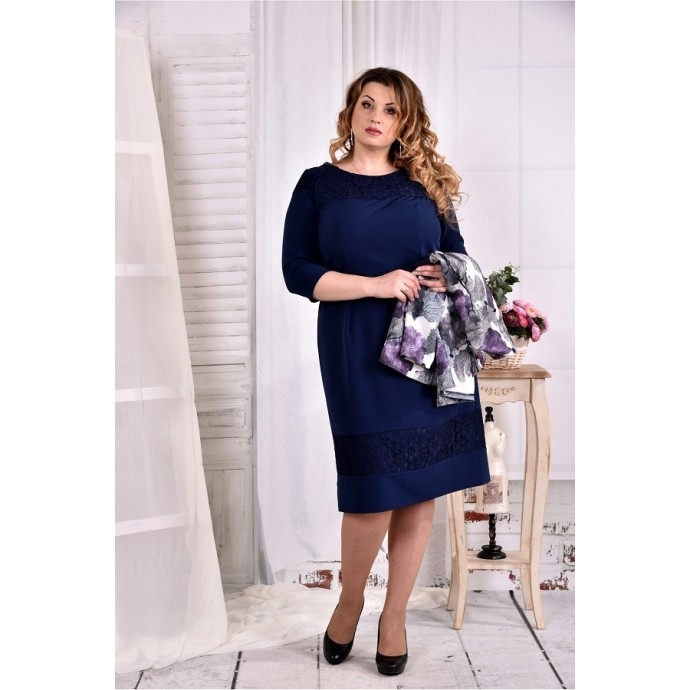 Синее платье ККК263-0577-1-2
