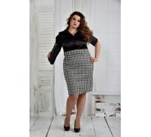 Черно-белое платье 42-74 разм. ККК61-0394-1 гусинная лапка