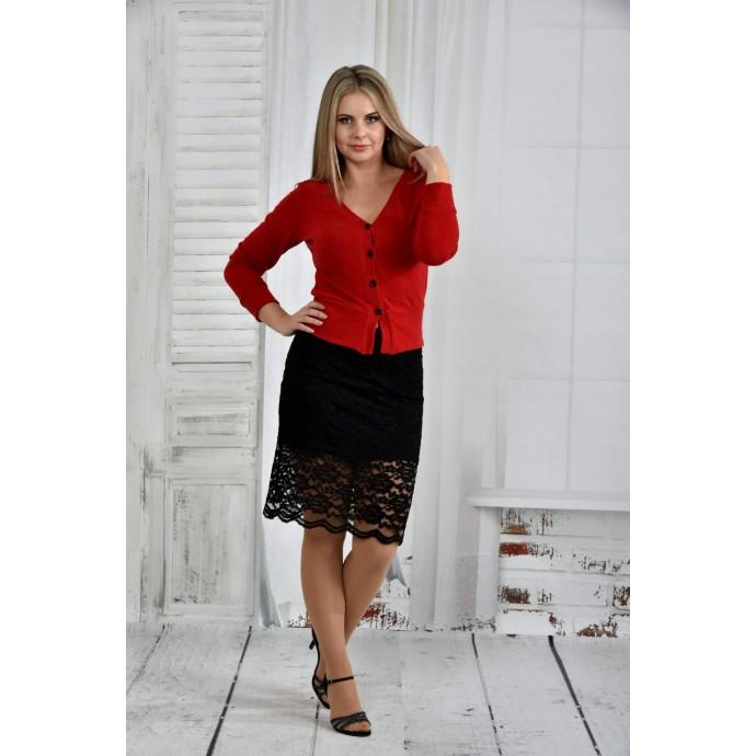 Красная блузка 42-74 размер ККК65-0395-2