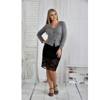 Серая блузка 42-74 размер ККК66-0395-3