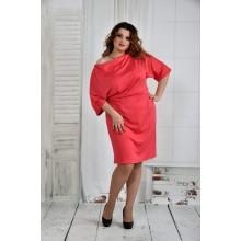 Коралловое платье 42-74 размер ККК610-0397-1