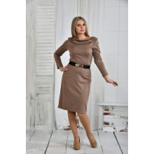 Бежевое платье 42-74 размер ККК618-0399-3