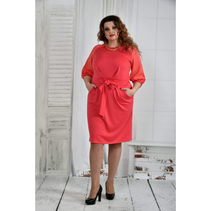 Коралловое платье 42-74 размер ККК626-0403-3