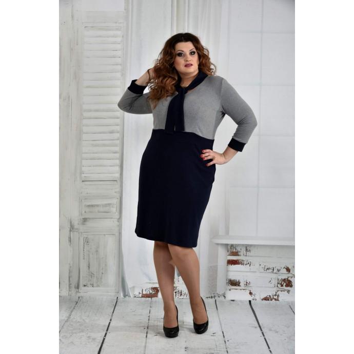Синее платье 42-74 размер ККК627-0404-1