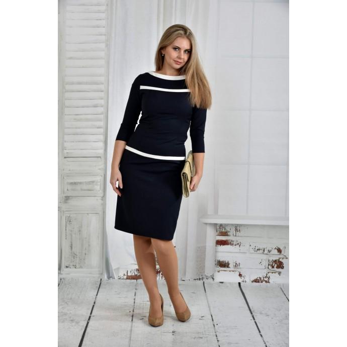 Темно-синее платье 42-74 размер ККК631-0405-2