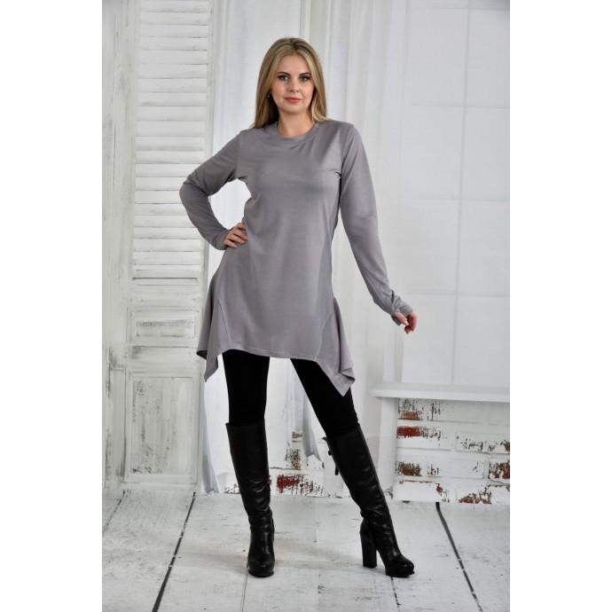 Серая блузка 42-74 размер ККК633-0406-1