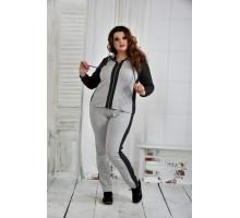 Спортивный костюм с серым 42-74 размер ККК640-0408-3