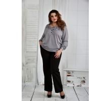 Серая блузка 42-74 размер ККК648-0411-1