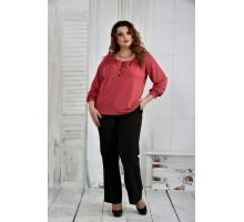 Терракотовая блузка 42-74 размер ККК649-0411-2