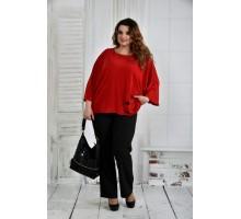 Красная блуза 42-74 размер ККК652-0412-2