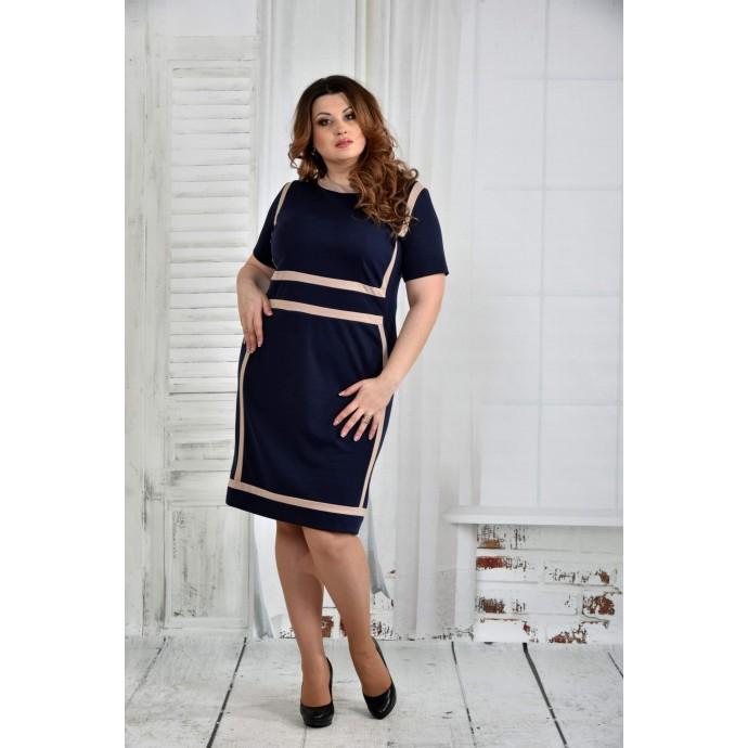 Синее платье 42-74 размер ККК58-0436-2