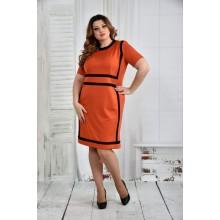 Оранжевое платье 42-74 размер ККК57-0436-3