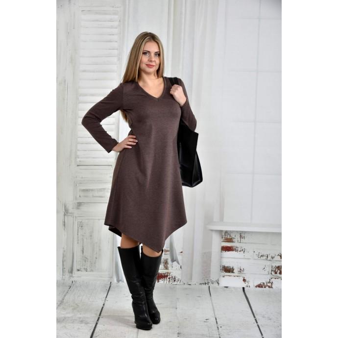 Коричневое платье 42-74 размер ККК55-0437-2