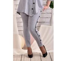 Серые брюки 42-74 размер ККК42-024-1