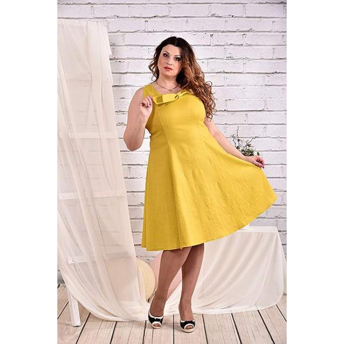 Платье горчица 42-74 размер ККК456-0455-3