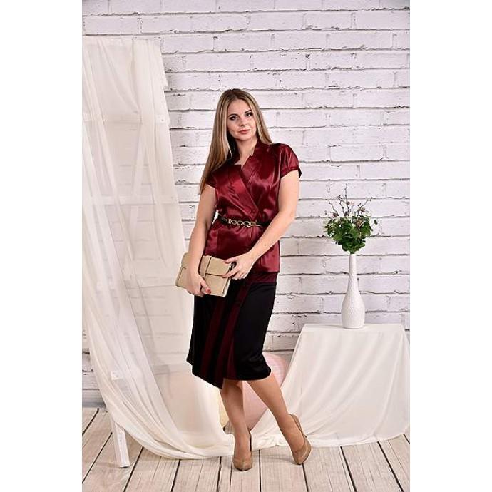 Бордовая блузка 42-74 ККК456-0456-1