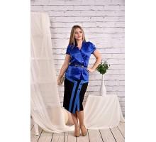 Синяя блузка 42-74 размер ККК455-0456-2