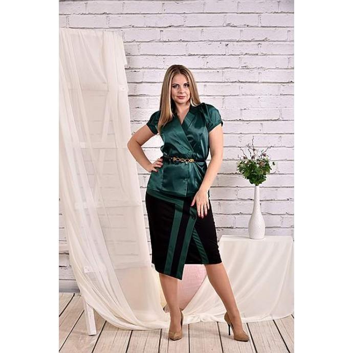 Зеленая блузка 42-74 размер ККК454-0456-3