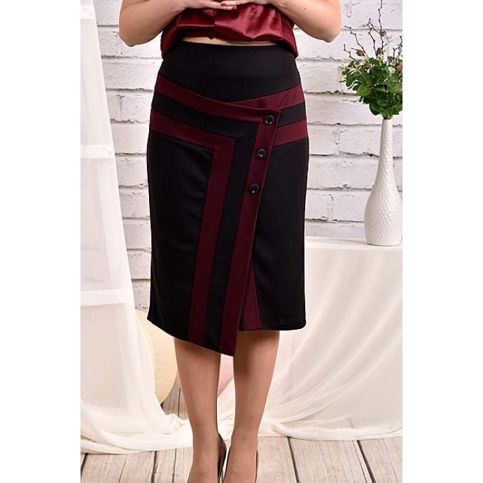 Бордовая юбка 42-74 размер ККК450-0458-1