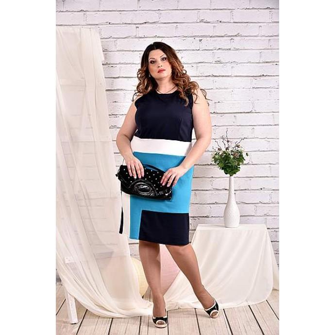 Синее платье 42-74 размер ККК446-0459-2