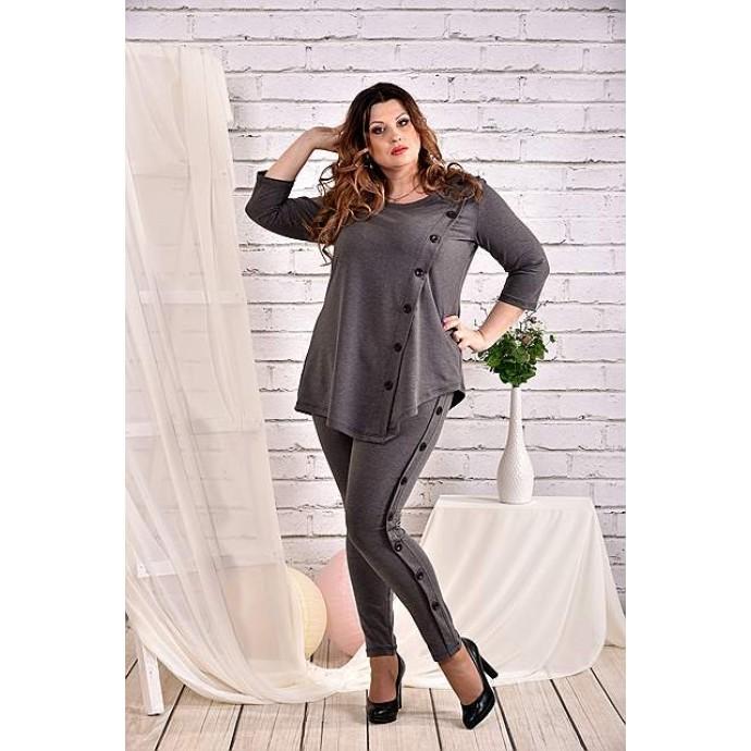 Темно-серая блузка 42-74 размер ККК443-0460-2
