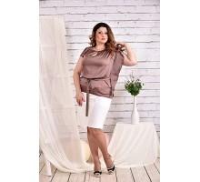 Кофейная блузка 42-74 размер ККК435-0463-2