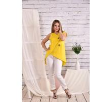 Желтая блузка 42-74 размер ККК429-0465-2